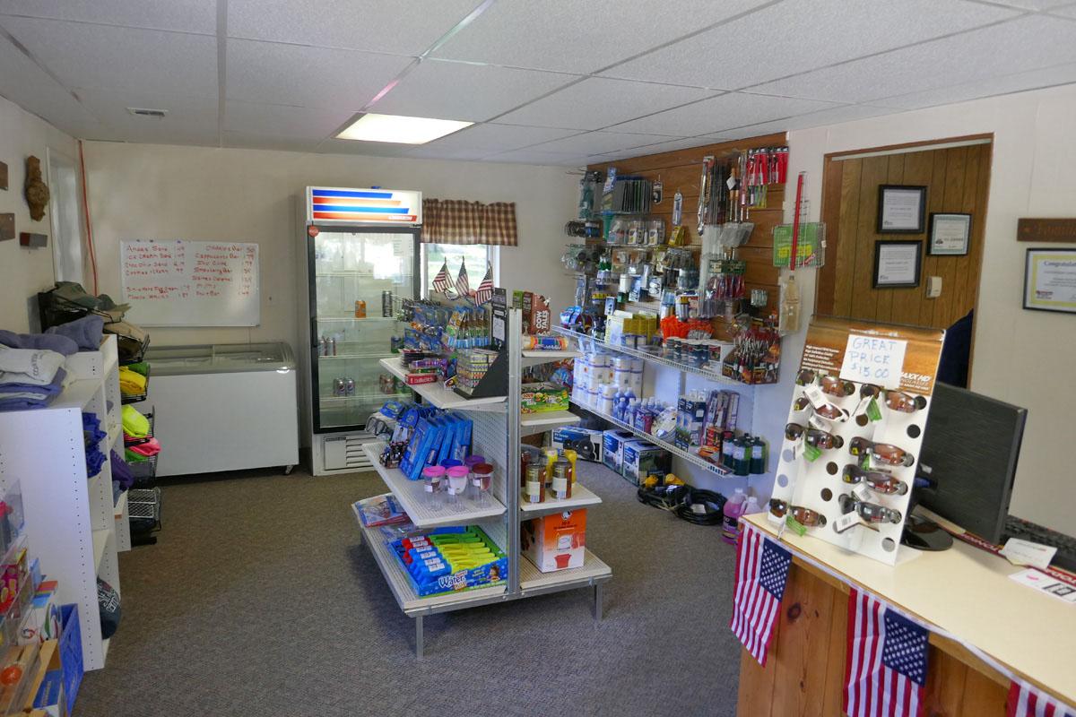 interior photo of camp store