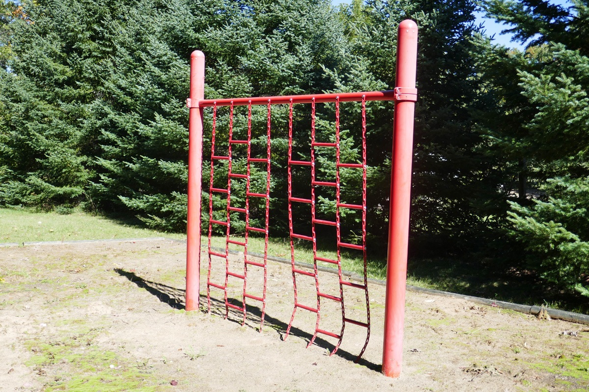 photo of climbing net at playground