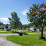 campsites with trailers